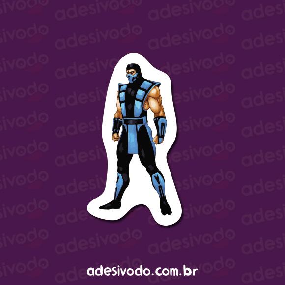 Adesivo do Sub-Zero Mortal Kombat