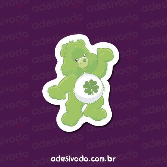 Adesivo do Ursinho Carinhoso verde