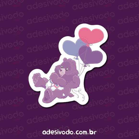 Adesivo do Ursinho Carinhoso roxo