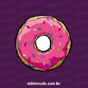 Adesivo Donuts Simpsons
