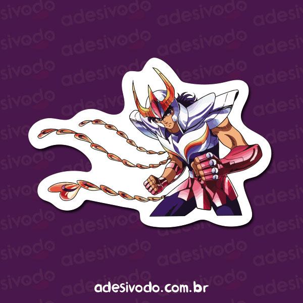 Adesivo dos Cavaleiros do Zodíaco Ikki de Fênix