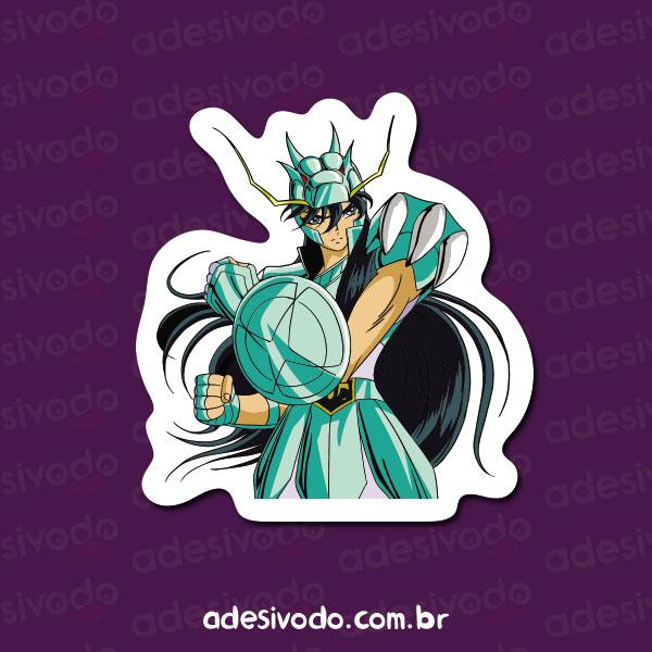 Adesivo dos Cavaleiros do Zodíaco Shiryu