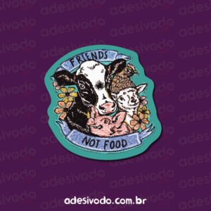 Adesivo Friends not food