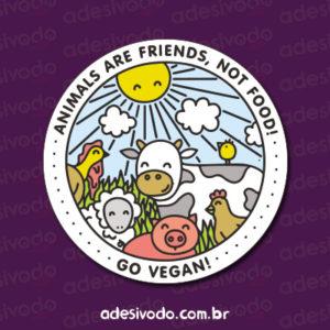 Adesivo Go Vegan