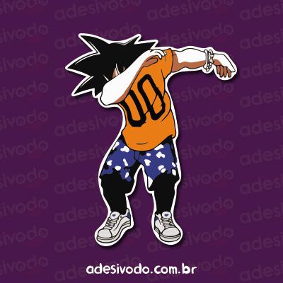 Adesivo do Goku dab