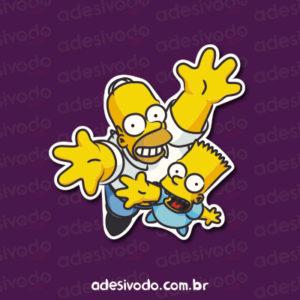 Adesivo Homer e Bart Simpsons