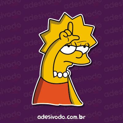 Adesivo da Lisa Simpson Loser