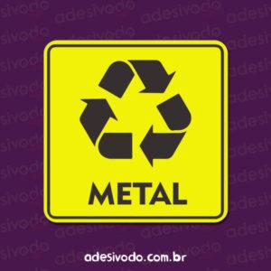 Adesivo de Lixo Reciclável Metal