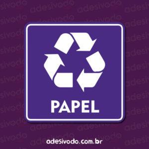 Adesivo de Lixo Reciclável Papel