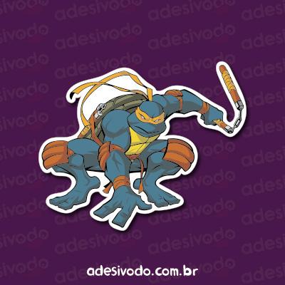 Adesivo Tartarugas Ninjas Michelangelo