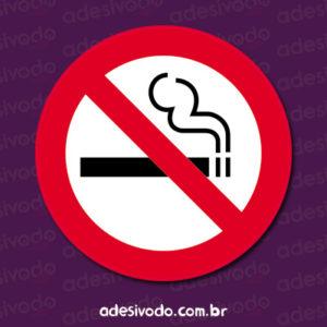 Adesivo Proibido Fumar