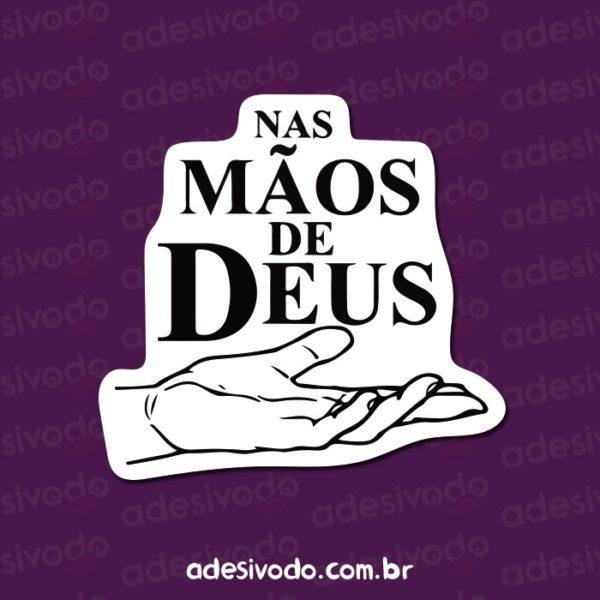 Adesivo Nas Mãos de Deus