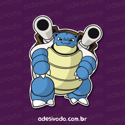 Adesivo do Blastoise Pokémon
