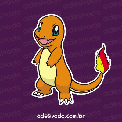 Adesivo do Charmander Pokémon