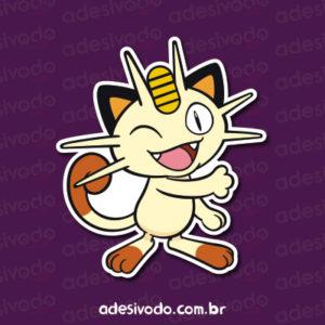 Adesivo do Meowth Pokémon