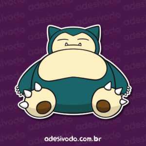 Adesivo do Snorlax Pokémon conhecido no Japão como Kabigon, é uma espécie de Pokémon, um tipo de Pocket Monster, da Nintendo e da franquia Pokémon da Game Freak. Cole Adesivo do Snorlax Pokémon