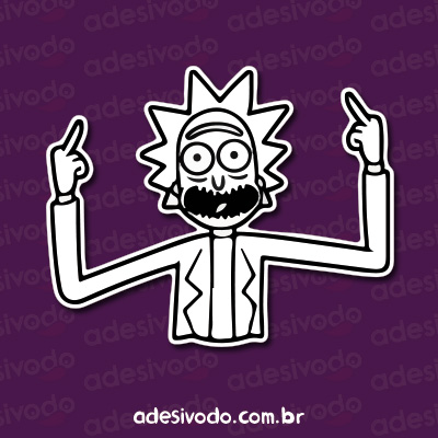 Adesivo do Rick and Morty