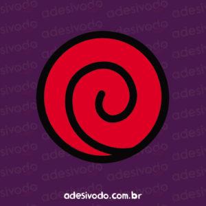 Adesivo Símbolo dos Uzumaki Naruto