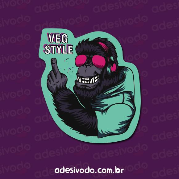 Adesivo Veg Style gorila