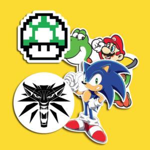 Adesivos de Games